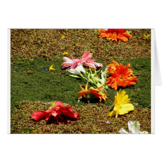 Colorful scenery of forgotten flowers card