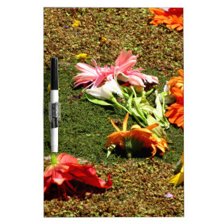 Colorful scenery of forgotten flowers Dry-Erase board