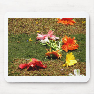 Colorful scenery of forgotten flowers mouse pad