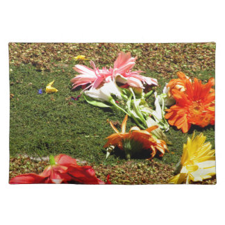 Colorful scenery of forgotten flowers placemat