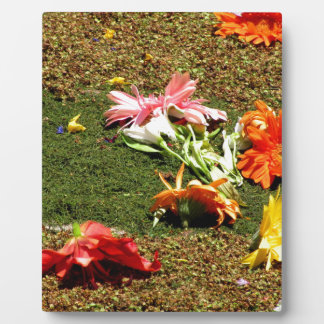 Colorful scenery of forgotten flowers plaque