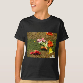 Colorful scenery of forgotten flowers T-Shirt