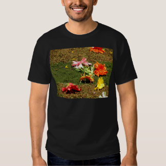 Colorful scenery of forgotten flowers t shirt