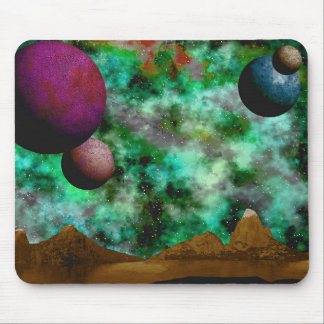 Colorful Scenic Alien World Mouse Pad