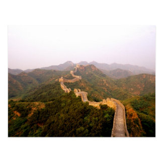 Colorful scenic at the great Wall of China in Postcard