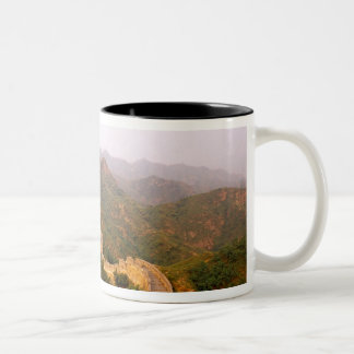 Colorful scenic at the great Wall of China in Two-Tone Coffee Mug