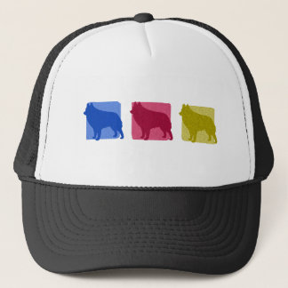 Colorful Schipperke Silhouettes Trucker Hat