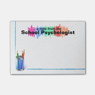Colorful School Psychologist Sticky Notes