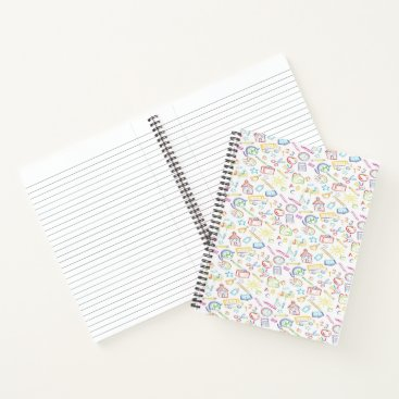Beach Themed Colorful school theme notebook