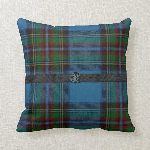 Colorful Scottish Tartan Plaid Pillow Zazzle