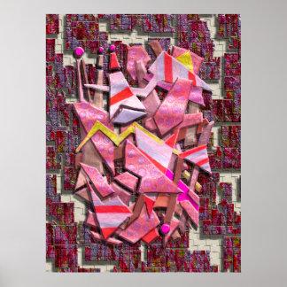 Colorful Scrap Metal Poster