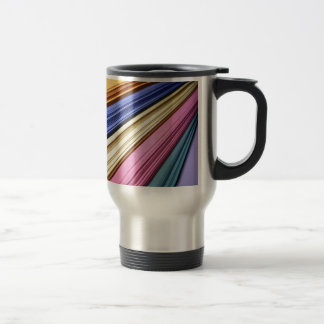 Colorful scrapbook papers coffee mugs