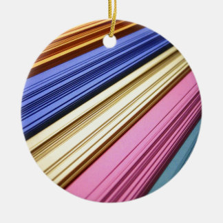 Colorful scrapbook papers christmas tree ornament