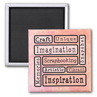 Colorful Scrapbooking 2 Inch Square Magnet