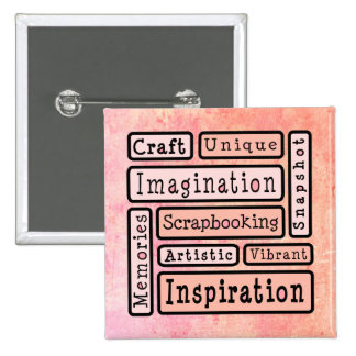 Colorful Scrapbooking Pinback Button
