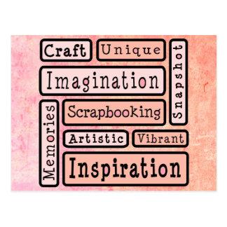 Colorful Scrapbooking Postcard