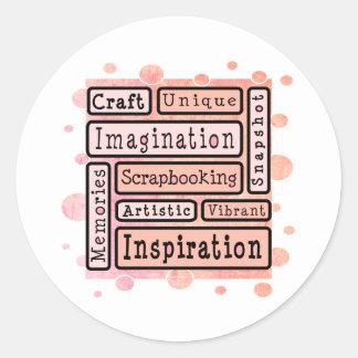 Colorful Scrapbooking Round Sticker