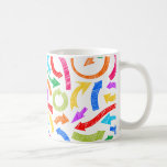 Colorful scribbled arrows coffee mug