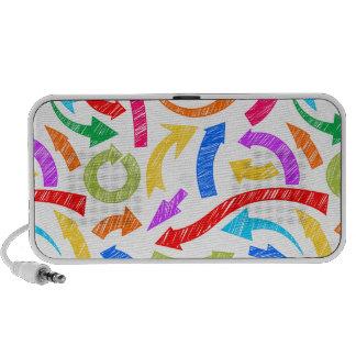 Colorful scribbled arrows iPhone speakers