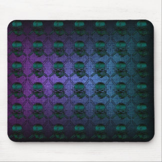 colorful scull mousepad