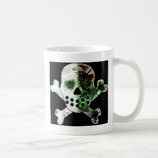 Colorful Scull on black background Mugs