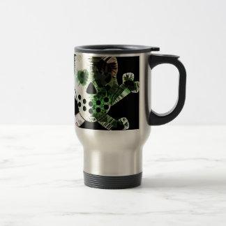 Colorful Scull on black background Mug
