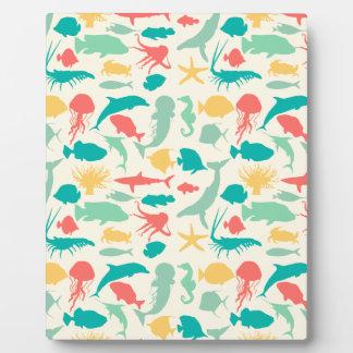 Colorful Sea Creatures Plaque