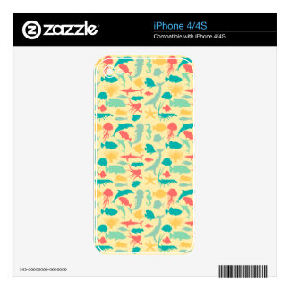 Colorful Sea Creatures Skins For The iPhone 4
