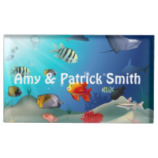Colorful Sea Creatures Table Card Holder