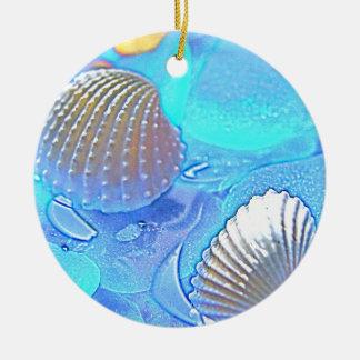 Colorful Sea Glass Christmas Ornaments