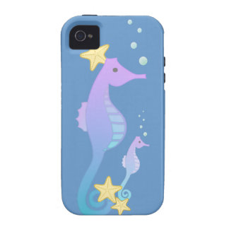 Colorful Sea Horses iPhone 4/4S Cover