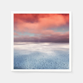 Colorful Sea Ice Reflection Standard Cocktail Napkin