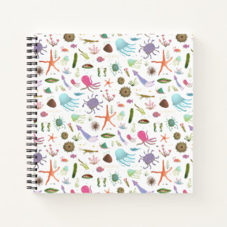 Colorful Sea Life Notebook