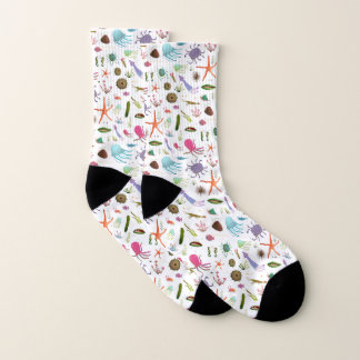 Colorful Sea Life Socks