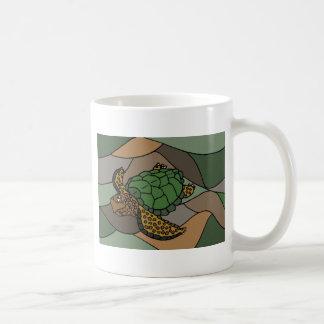 Colorful Sea Turtle Abstract Art Coffee Mug