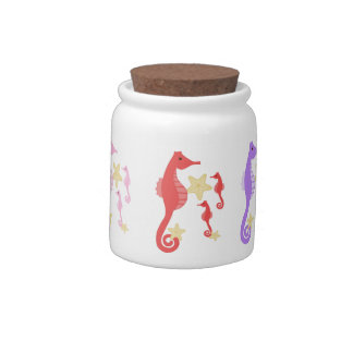 Colorful Seahorses Candy Jars
