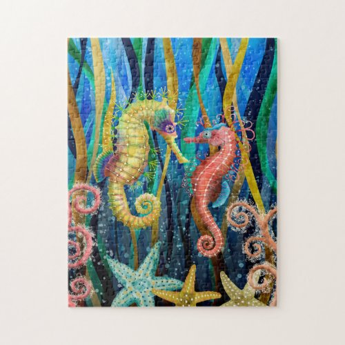 Colorful Seahorses Jigsaw Puzzle