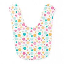 Colorful Seamless Dots Pattern Baby Bib