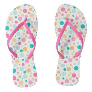 Colorful Seamless Dots Pattern Women's Flip Flops