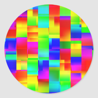 Colorful Seamless Pattern Classic Round Sticker