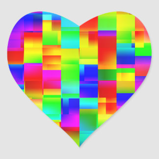 Colorful Seamless Pattern Heart Sticker