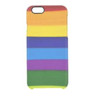 Colorful Seams Uncommon Clearly™ Deflector iPhone 6 Case