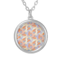 Colorful Seashell Pattern Silver Plated Necklace