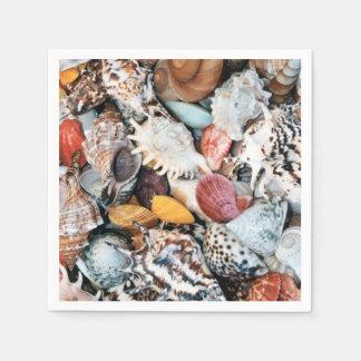 Colorful Seashells Paper Napkins