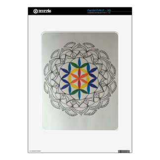 Colorful Seed of Life Mandala Decal For The iPad