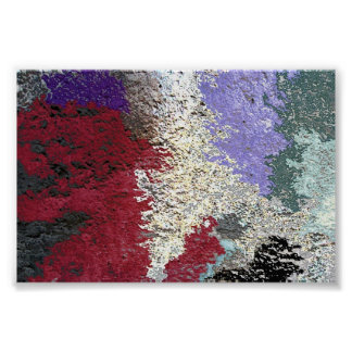 Colorful Seepage Art Poster