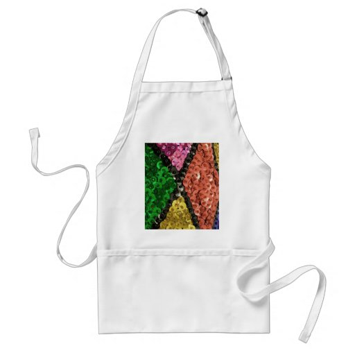 Colorful Sequins Bling Pattern Aprons