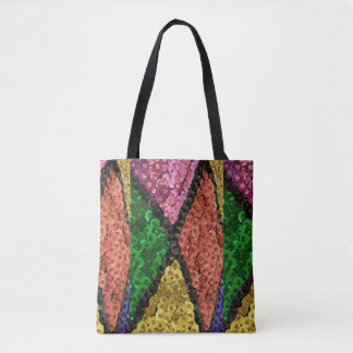 Colorful Sequins Bling Pattern Tote Bag
