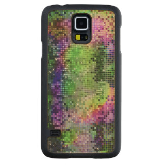 Colorful Sequins Look Disco Mirrors Pattern 6 Carved® Maple Galaxy S5 Slim Case