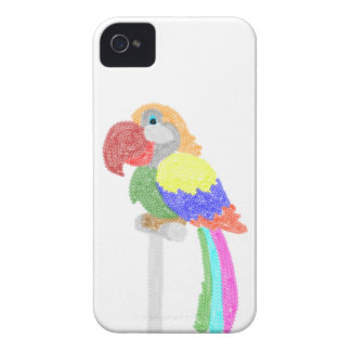 Colorful  Sequins Talking parrot iPhone 4 Cover